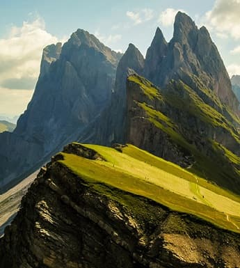The Dolomite Mountains in the Italian Alps